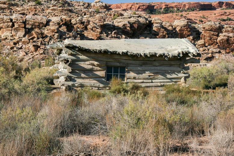 Die Wolfe Ranch befindet sich an einer der wenigen Wasserstellen des Arches NP.