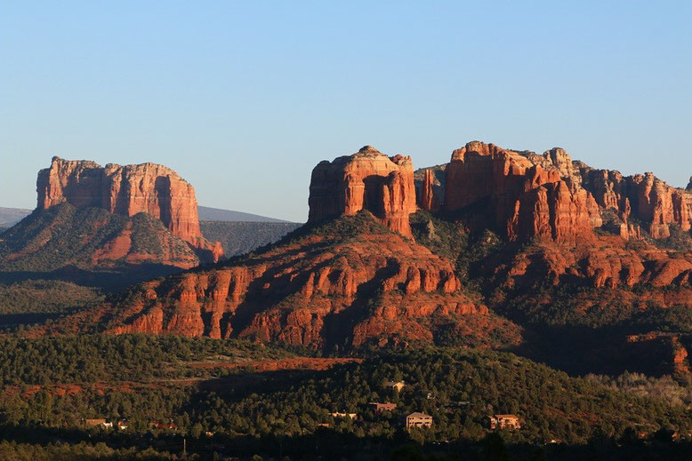 Sonnenuntergang Sedona an Upper Red Rock Road