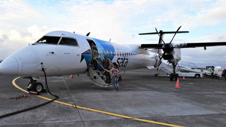 Flug von Pico nach Sao Miguel