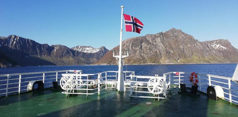 Fähre von Gryllefjord nach Andenes