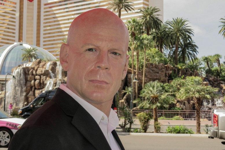 Bruce Willis in Las Vegas, ...  als Wachsfigur