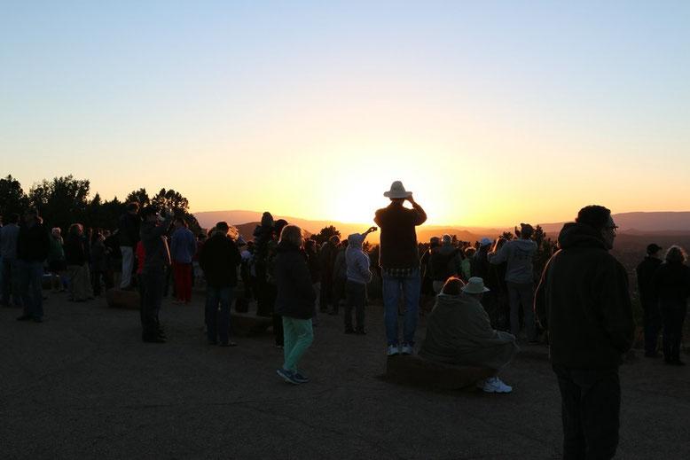 Sonnenuntergang Sedona an der Mesa Airport