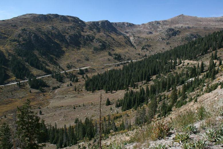 Fahrt zum Independence Pass
