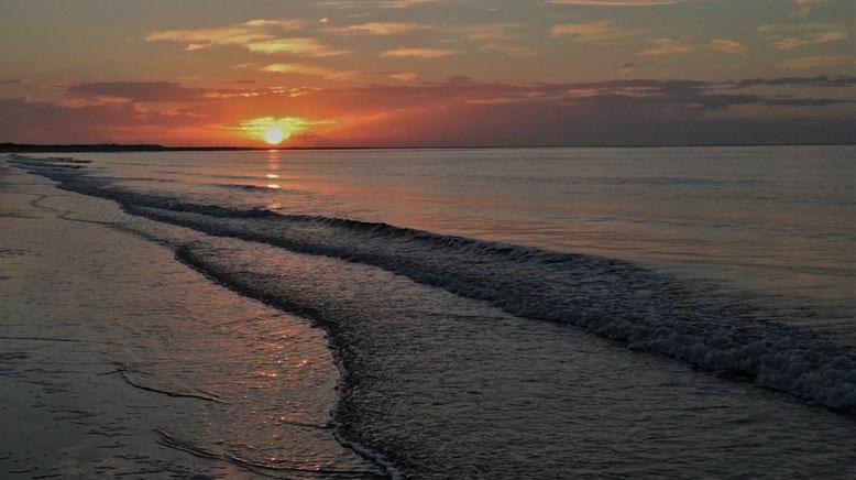 Renesse Strand, Sonnenuntergang im Herbst