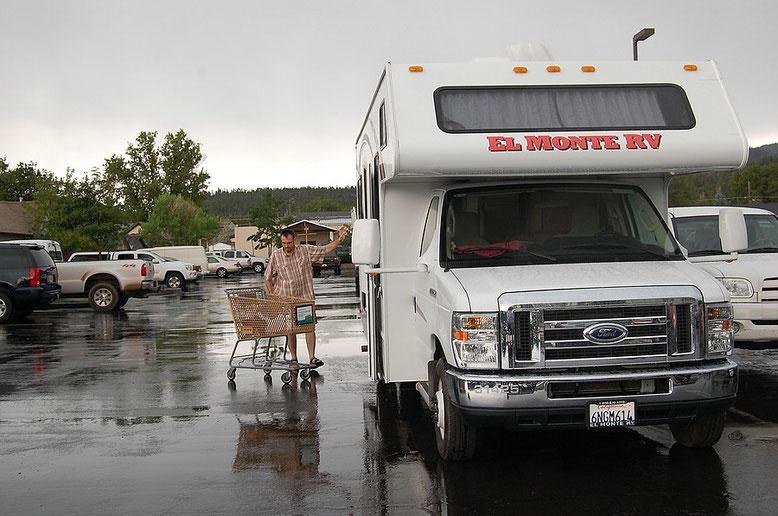 Die  Motorhome-Roadies auf Einkaufsjagd