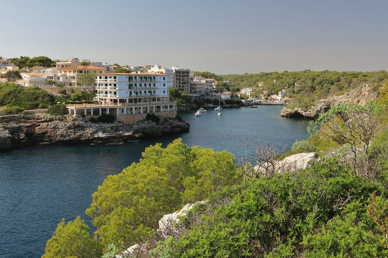 Blick auf Cala Figuera bei Santanyí