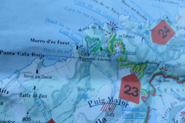 Serpentinen auf der MA-2141 nach Sa Calobra