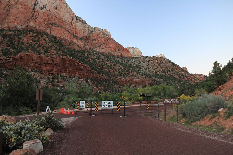 Zion closed-Scenic Drive closed