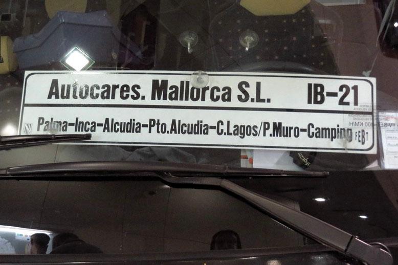 Buslinie IB 21 Alcudia - Palma
