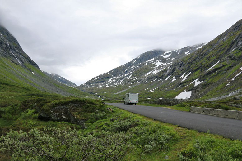 Reisebericht Norwegen Wohnmobil, gamle strynefjellsvegen