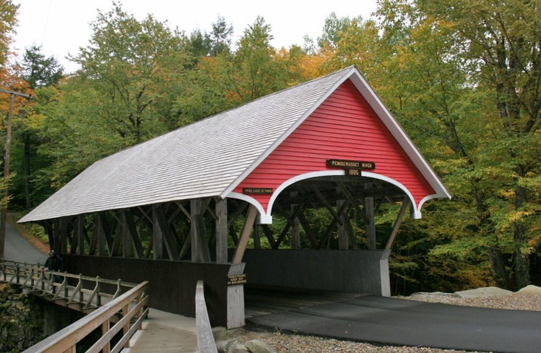 Flume Covered Bridge, Flume Gorge