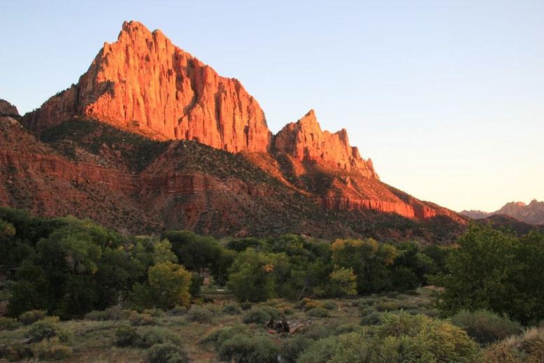 Sonnenuntergang Zion National Park