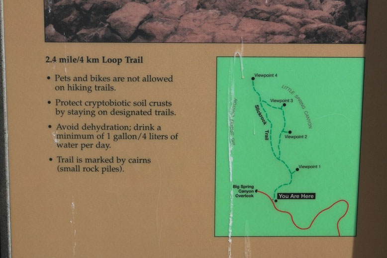 Canyonlands NP -  Slickrock Foot Trail, Map