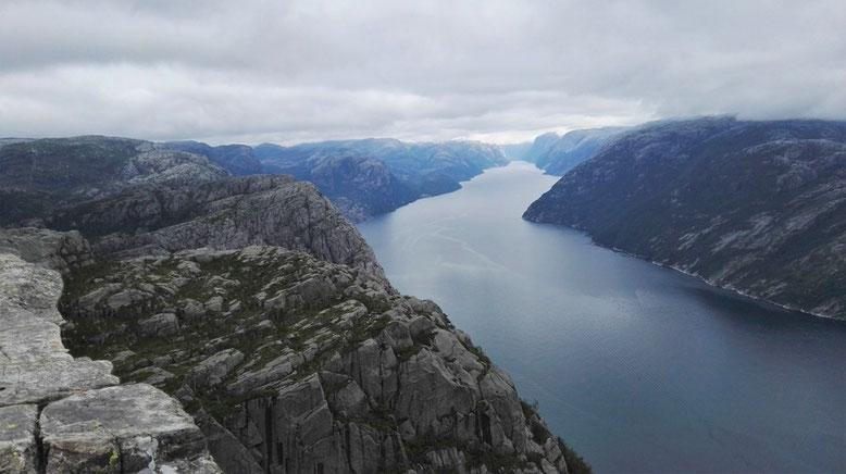 Wanderung zum Preikestolen, Reisebericht Wohnmobil Norwegen