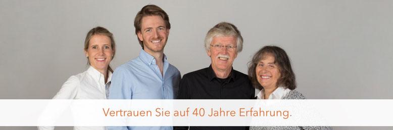 Team von Ditschler Seminare und Ditschler Verlag: Jasmin Marahrens, Ulrich Ditschler, Kurt Ditschler, Christa Ditschler