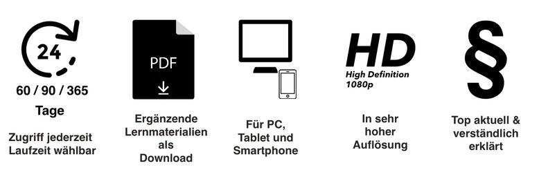 Online Seminare im Arbeitsrecht in HD für Tablet, PC und Smartphone