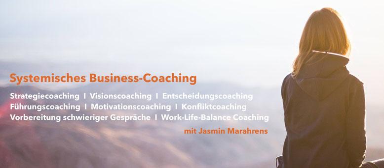 Systemisches Business-Coaching, Strategiecoaching, Visionscoaching, Entscheidungscoaching, Führungscoaching, Motivationscoaching, Konfliktcoaching, Vorbereitung schwieriger Gespräche, Work-Life-Balance-Coaching
