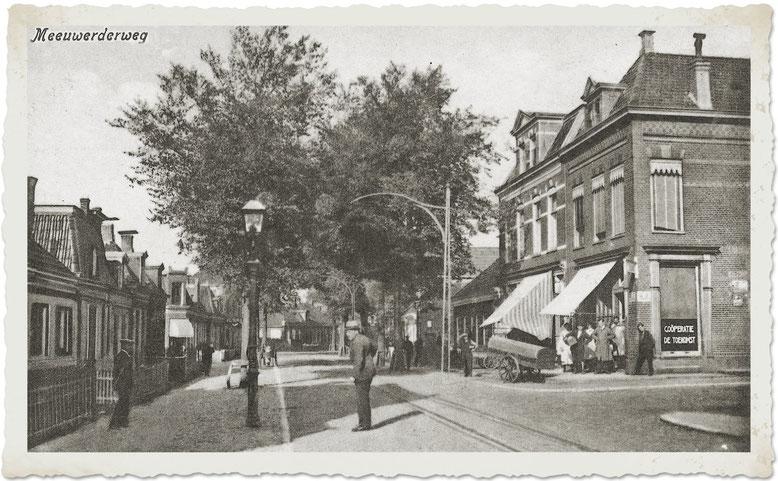De Meeuwerderweg c.a 1920