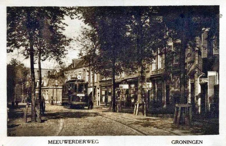 Tram lijn 4 foto omstreeks 1920-1930