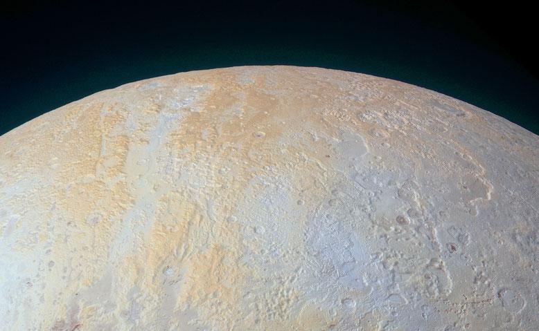 Région Lowell au pôle nord de Pluton