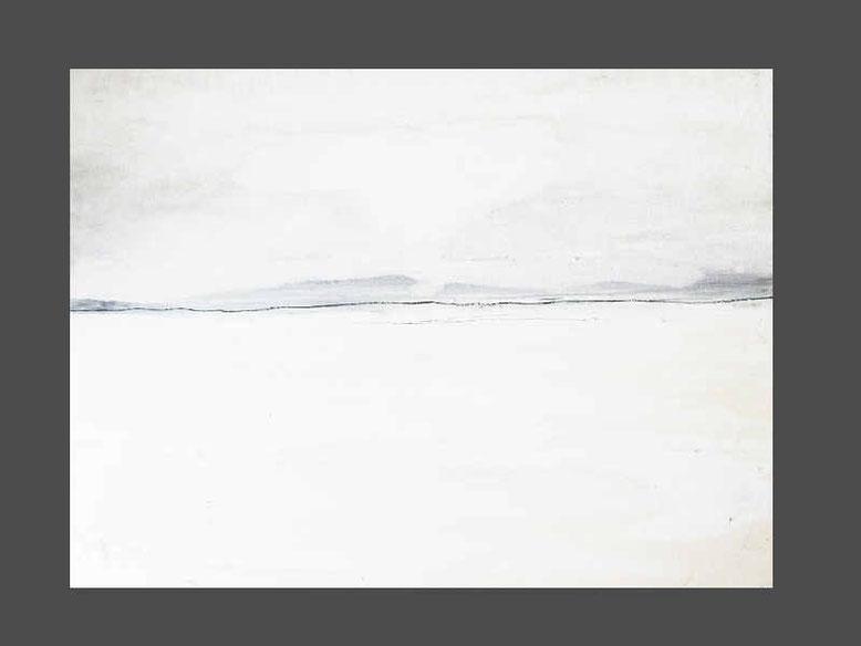 weisses abstraktes Gemälde