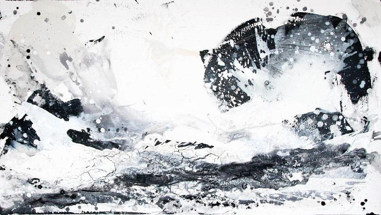 schwarzweisses Bild 140 x 80 cm