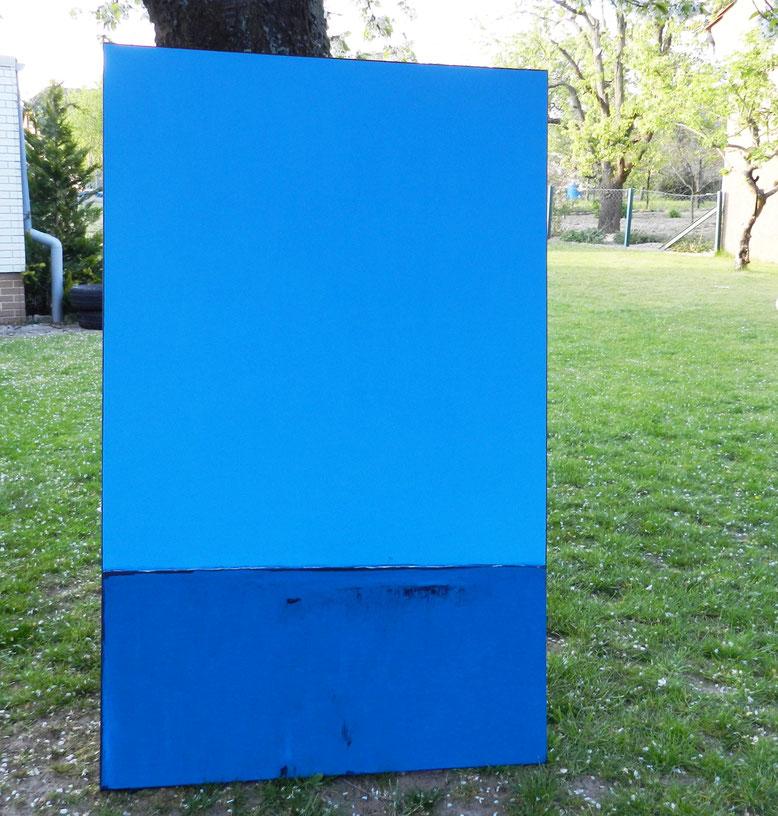 blaues großes Gemälde