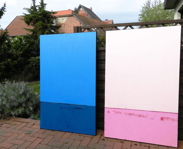 große Bilder blau rosa