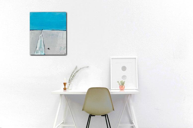 Bild Blau grau 50 x 40 cm - Kanalkutter