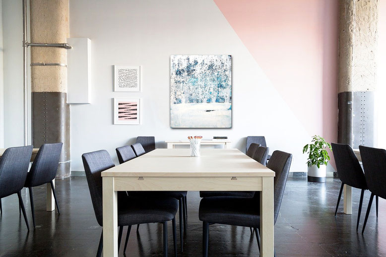 Winterwald - 120 x 100 cm