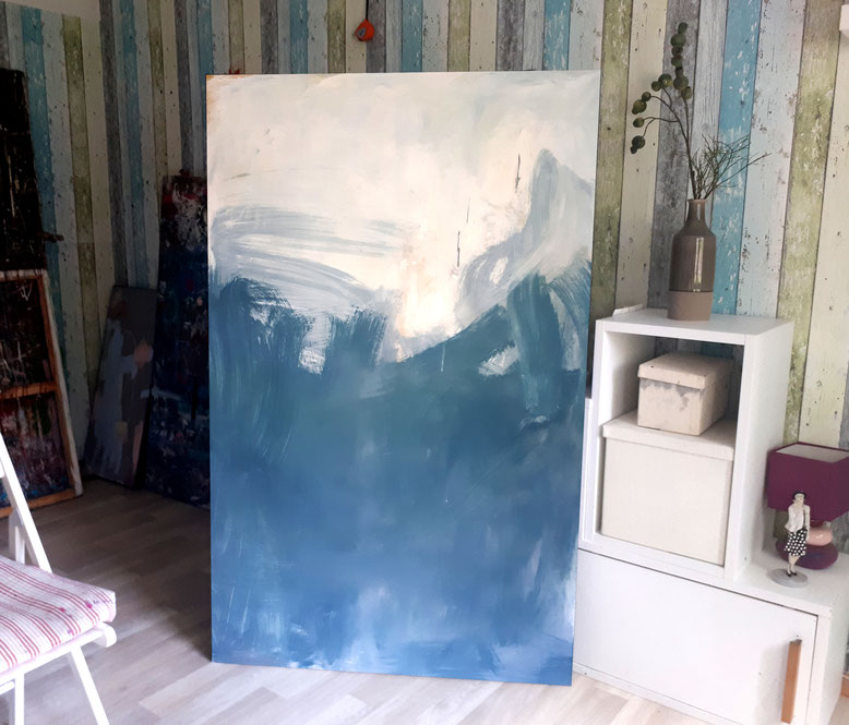 blaues-großes Bild