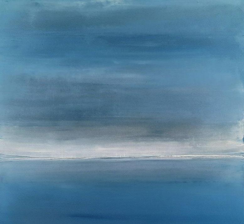 blaues landschaftsbild - Ruhige See