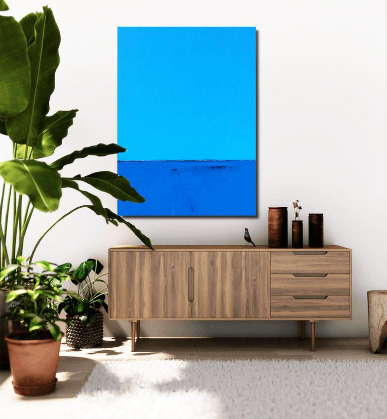 blaue große Gemälde