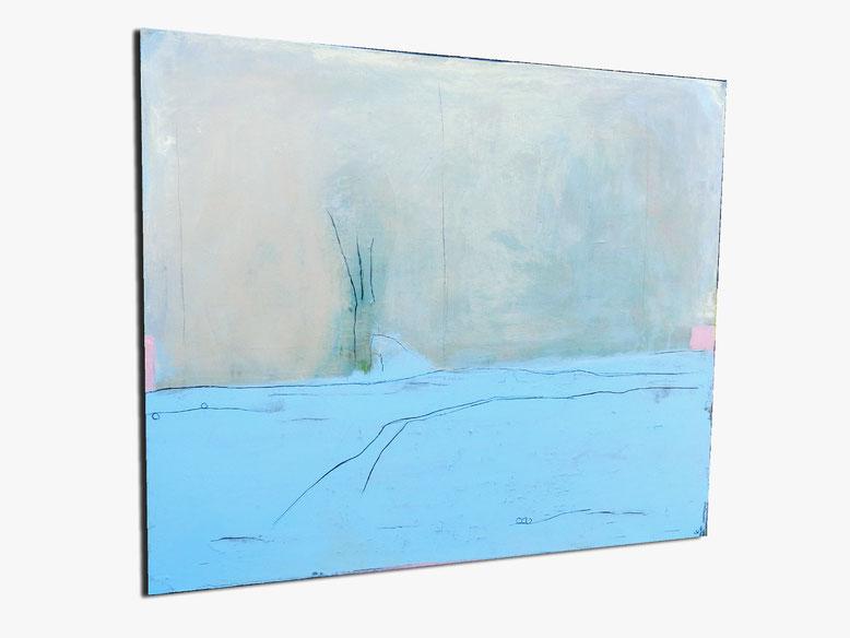 Blaues Bild - Wir rücken zusammen - 120 x 100 cm