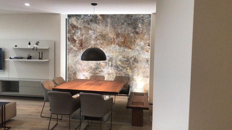 Luxusvariante - Kunsttapete kann jeder! Originale Kunst für die Wand in xxl nicht...
