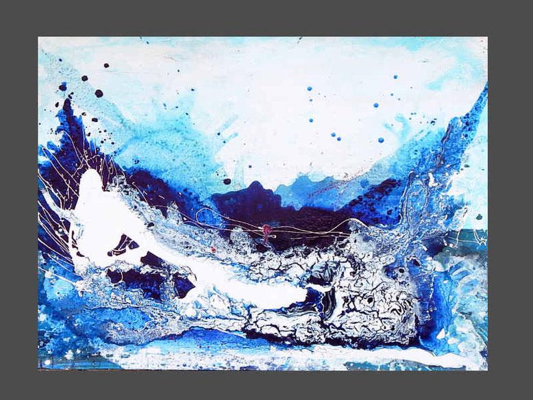 blaues abstraktes bild