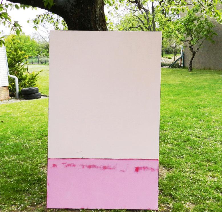 Rosa großes Gemälde