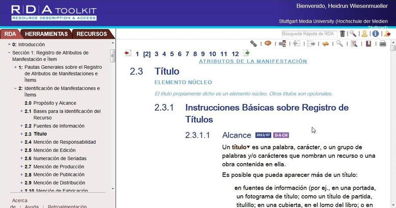 Beispielseite aus dem spanischen Regelwerkstext