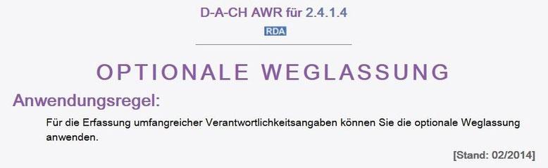 Screenshot mit der D-A-CH AWR zu 2.4.1.4, die bei umfangreichen Verantwortlichkeitsangaben eine Kürzung ermöglicht
