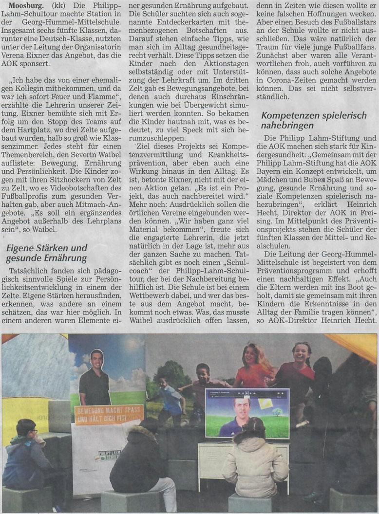 Quelle: Moosburger Zeitung, 17.10.2020