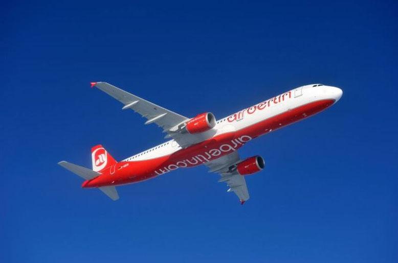 airberlin Airbus A321-200 Air-to-Air