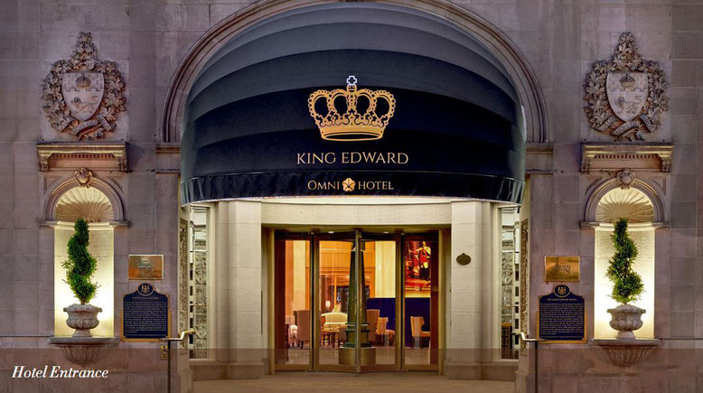 Eingang King Edward Hotel