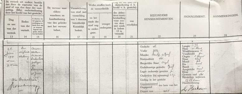 Uitschrijving Louw Hoeksma Huis van Bewaring Leeuwarden