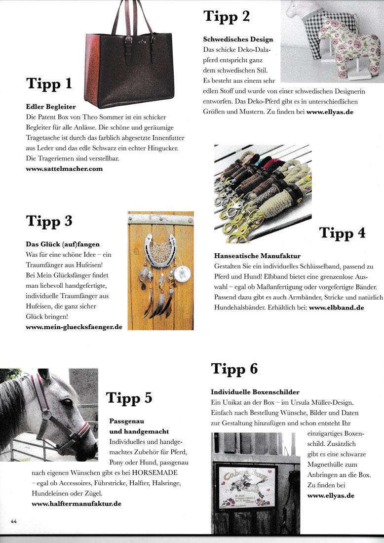 HIPPO Die Trends der Pferdesportszene Ausgabe 11/2018, Seite 44