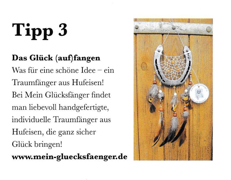 HIPPO Die Trends der Pferdesportszene Ausgabe 11/2018 Tipp 3 Das Glück (auf)fangen