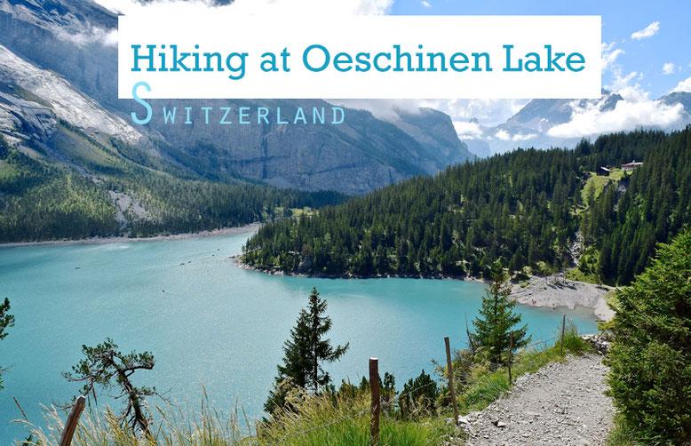 Hiking at Oeschinen Lake, Switzerland