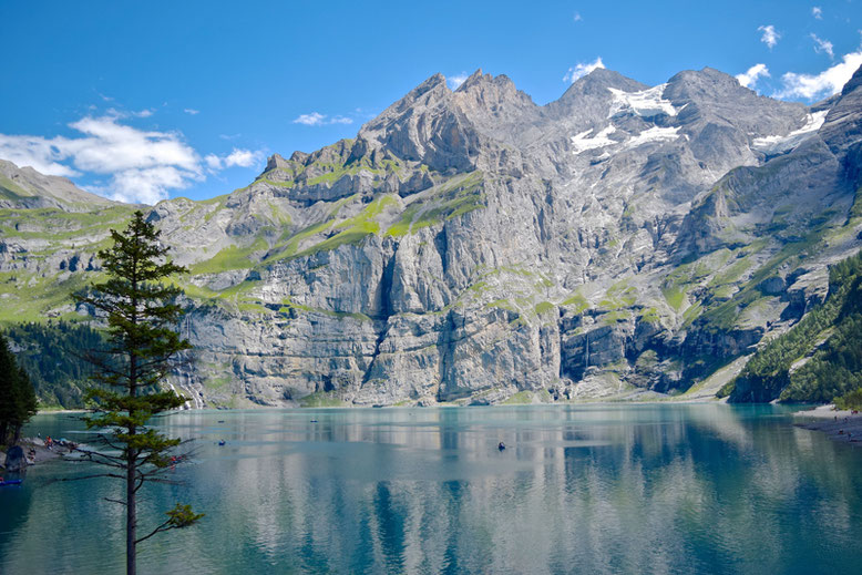 Hiking at Oeschinen Lake