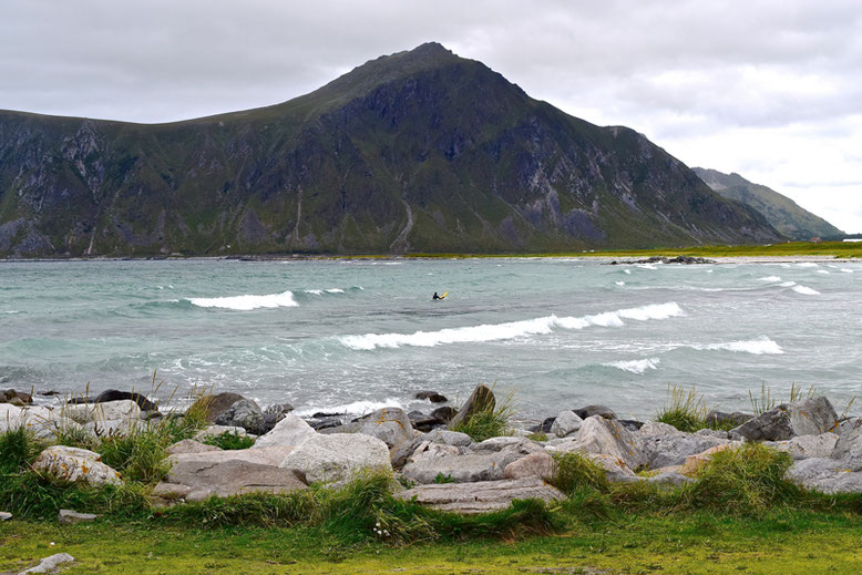 From Tromso to the Lofoten Islands - Flakstad Beach