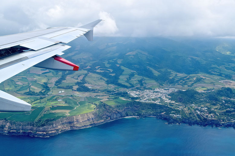 Visit the Azores - Flying over the Island Sao Miguel