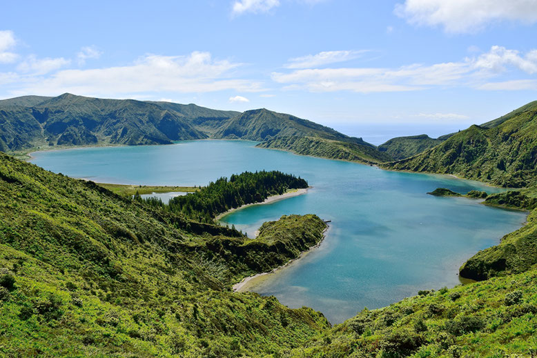 Most Beautiful Lakes in Europe - 10 Astonishing Lakes You Must See in Europe - Lagoa Fogo, the Azores, Portugal